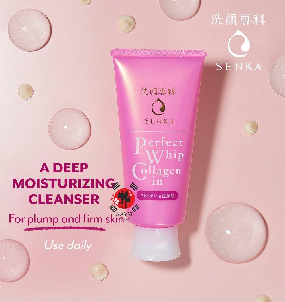 Feedback on mỷ phẩm mua ở Nhật Senka-perfect-whip-collagen-facewash-1